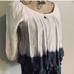 Saks Fifth Avenue Tops - Saks Off Fifth Peasant Blouse